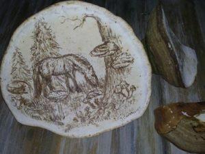панно из грибов