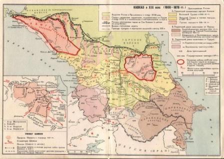как россия воевала с кавказом и где был имамат шамиля