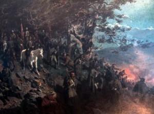 кавказская война войска россии идут по горам