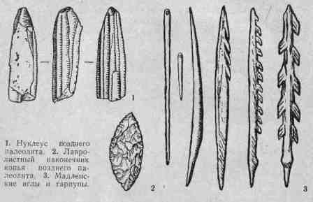 как выглядят орудия позднего палеолита