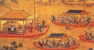 китайский император путешествует на плоту