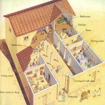в каких домах жили древние греки
