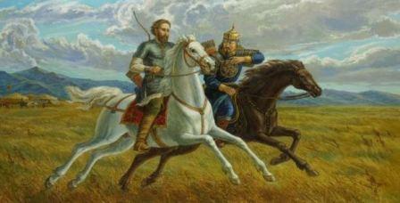 русский и ордынец