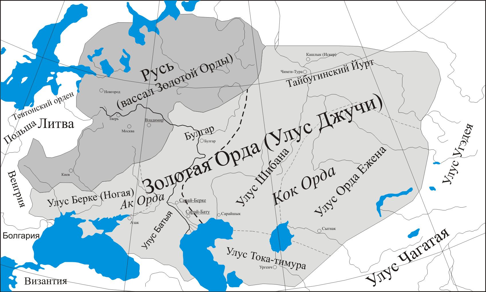 как связаны казахстан и золотая орда