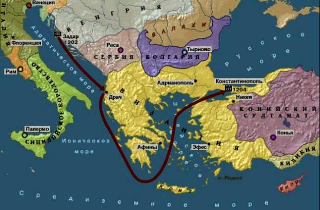 как крестоносцы захватили константинополь