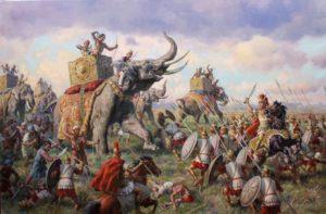 как александр македонский победил слонов