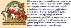 Русь после Александра Невского