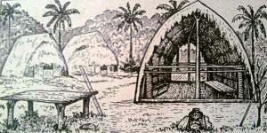 жизнь папуасов в деревне на берегу Маклая