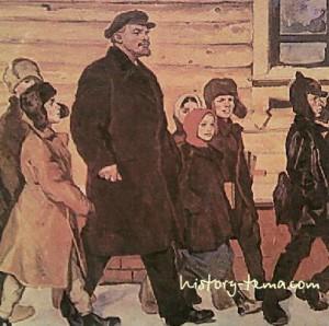 Праздник октябрьской революции и Ленин