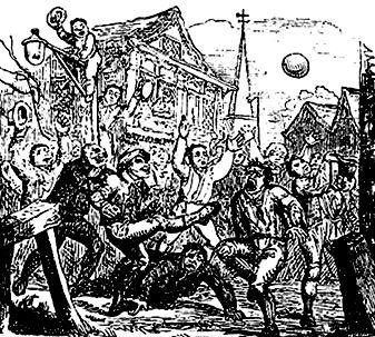 как в старое время играли в футбол