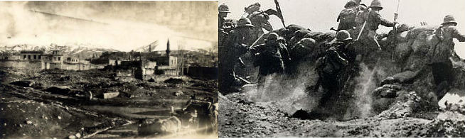 какие действия предпринимались против османского халифата в первую мировую войну