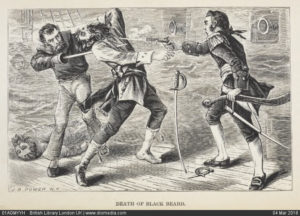 как погиб пират Черная Борода