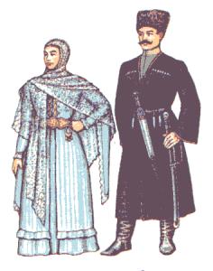 как выглядит национальная одежда народов кавказа