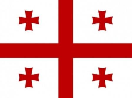 Как выглядит грузинский флаг