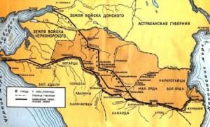 Где проходили Азово-Моздокская и Кубанская кордонные линии