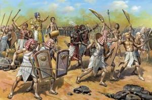 как были вооружены воины в древнем египте