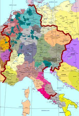 где и когда находилась священная римская империя