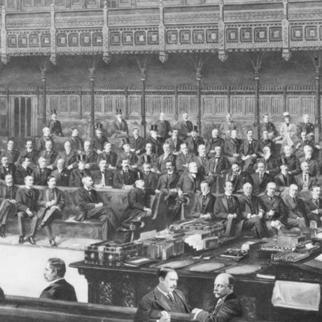 как в начале двадцатого века выглядел британский парламент
