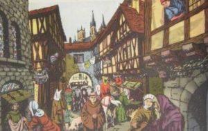 как выглядели улицы городов в средневековой европе