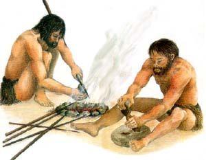 как первобытные люди добывали огонь