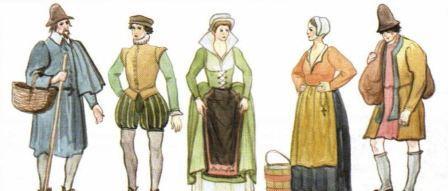 как выглядел простой народ во франции в средневековье