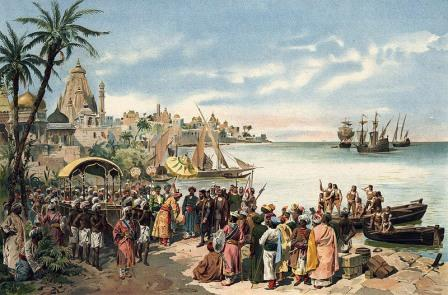 когда европейцы васко да гама появились в индии