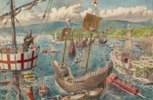 каким путем чума попала в 14 веке в европу