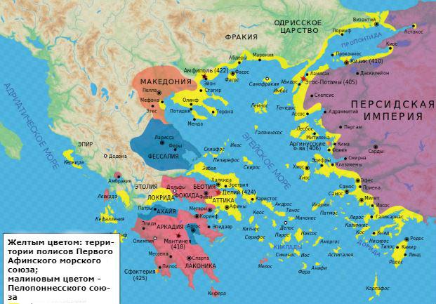 что такое афинский и пелопоннесский союзы