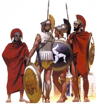у кого в древней греции была самая сильная армия