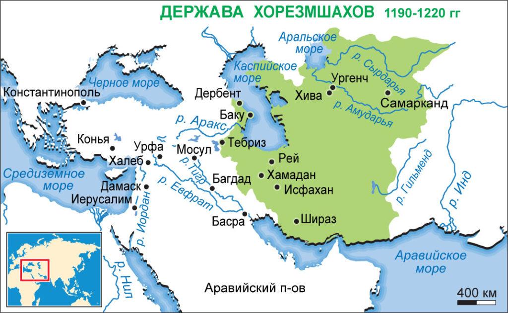 где было государство хорезмшахов