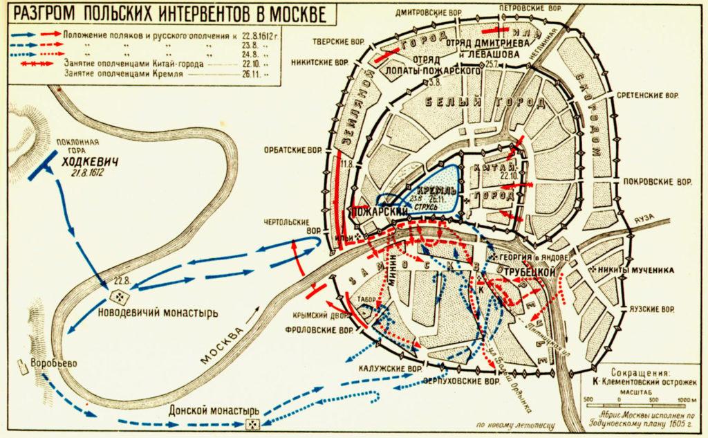 как польско-литовских интервентов изгоняли из москвы