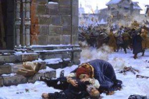 как первое ополчение сражалось с поляками и литовцами