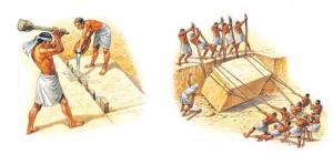 пирамиды фараона строили рабочие