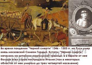 какой русский князь умер от чумы