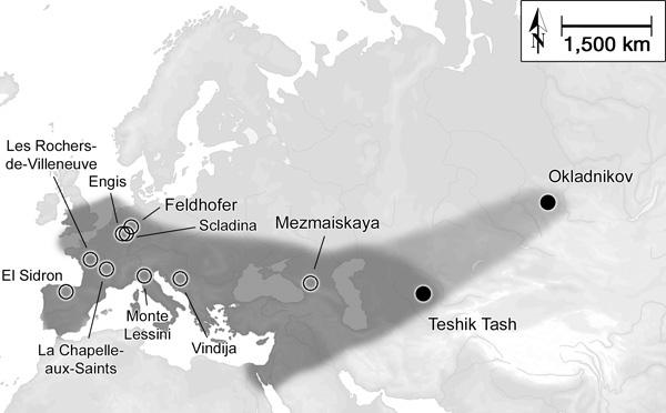 где жили неандертальцы