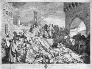 сколько умерло от черной чумы