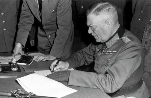 сколько раз подписывали акт о капитуляции германии