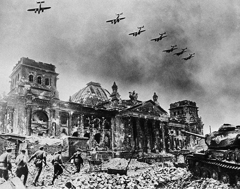 когда красаня армия подступила к рейхстагу имперской канцелярии и бункеру гитлера