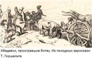 какую роль играли абадзехи в кавказской войне