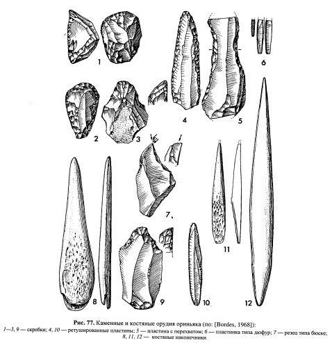 как выглядят орудия ориньякской культуры